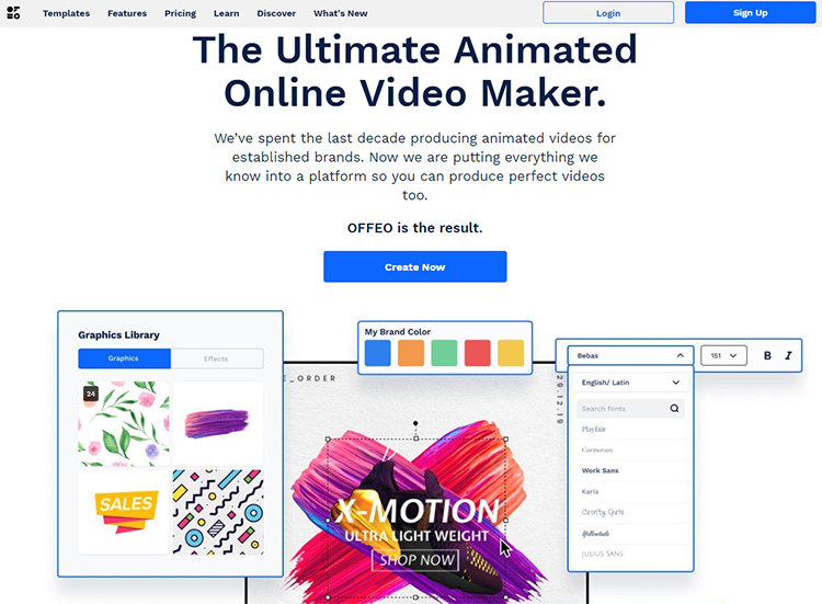 OFFEO kinetic typography maker online
