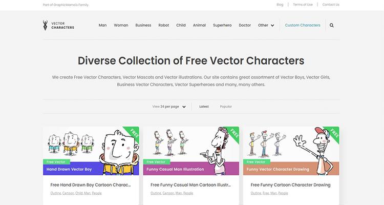 02 graphic characters download websites