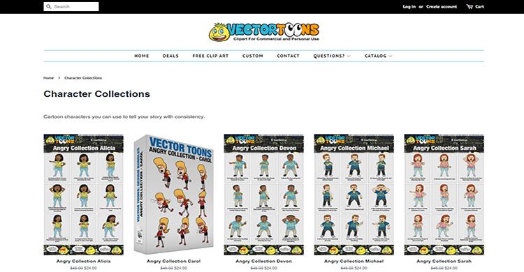 03 graphic characters download websites