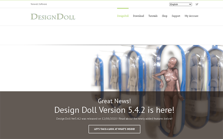 best character animation software-design doll
