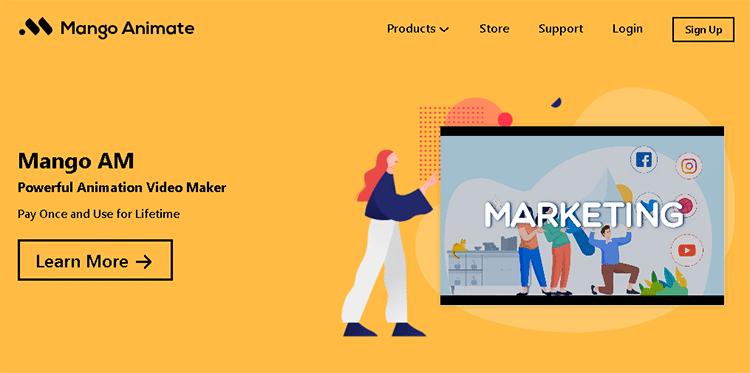 cartoon creator software-mango animate animation maker