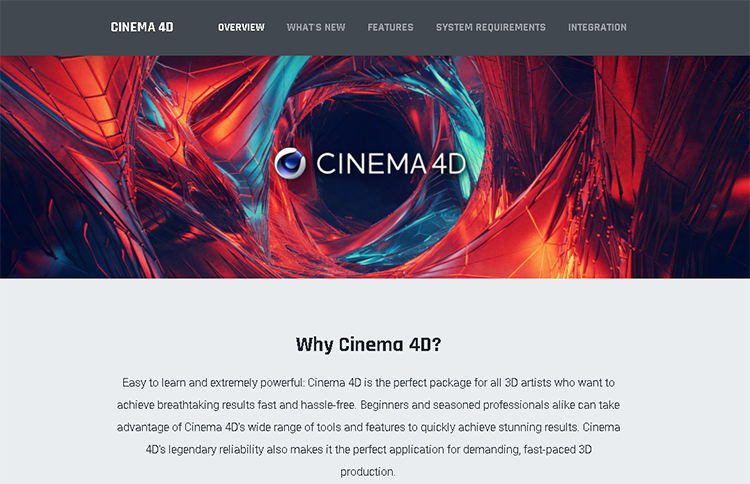 character software-cinema 4d