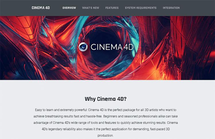 best 3D animation software-cinema 4D