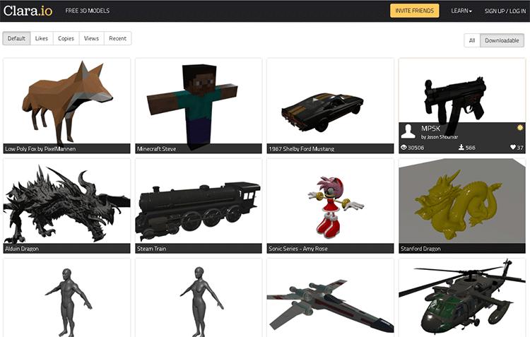 best 3D animation software-clara.io
