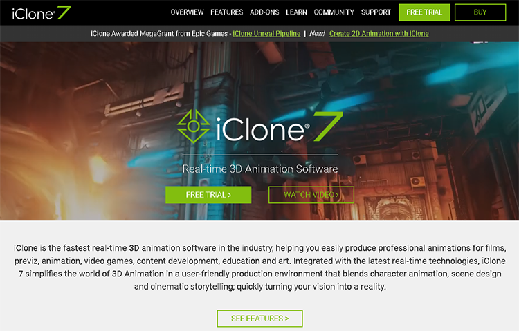 best character animation software-iclone
