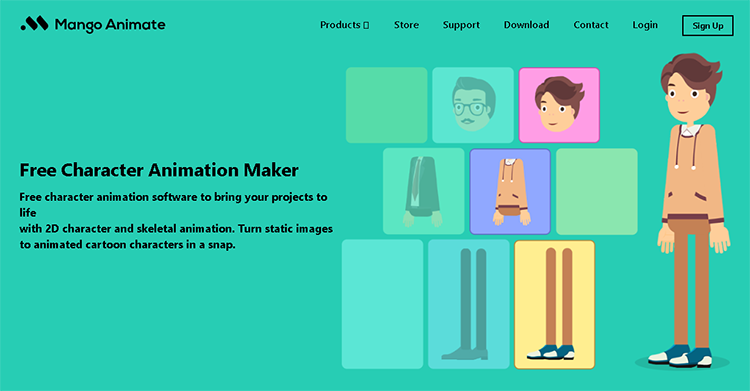 make character motion graphics with Mango Animate Character Animation Maker