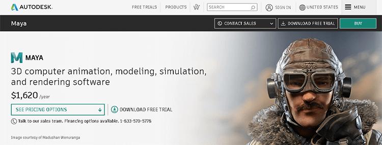 best 3D animation software-maya