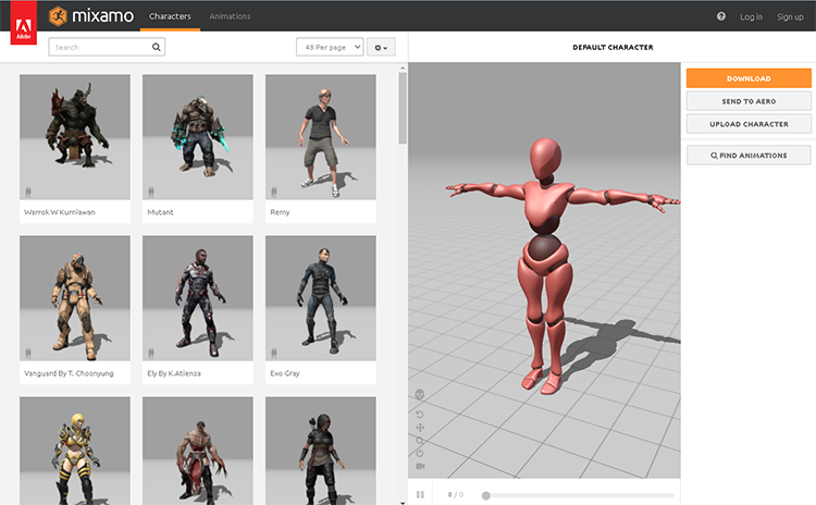 character design software-mixamo