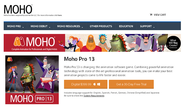 adobe animation software-moho