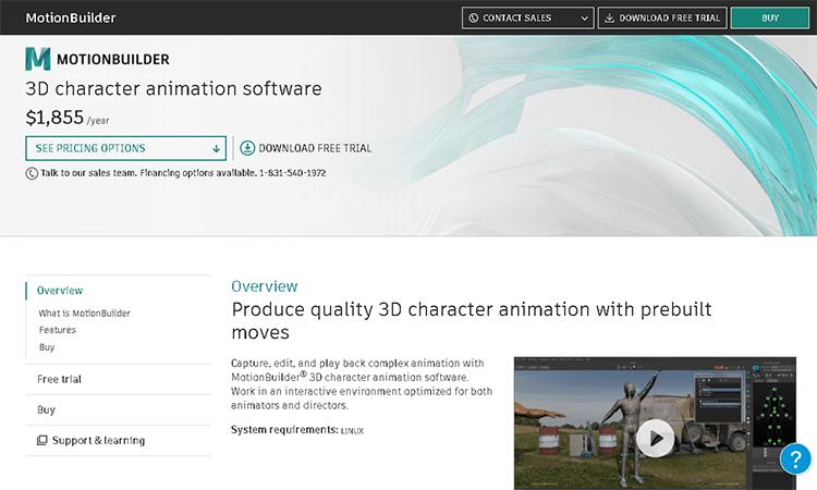 best 3D animation software-motionbuilder