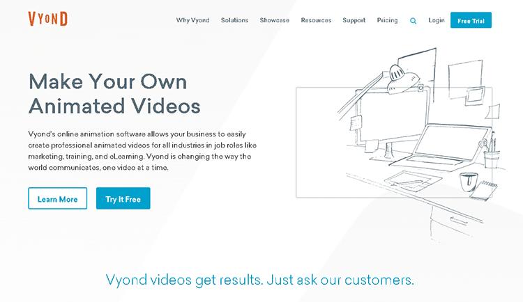 cartoon creator software-vyond