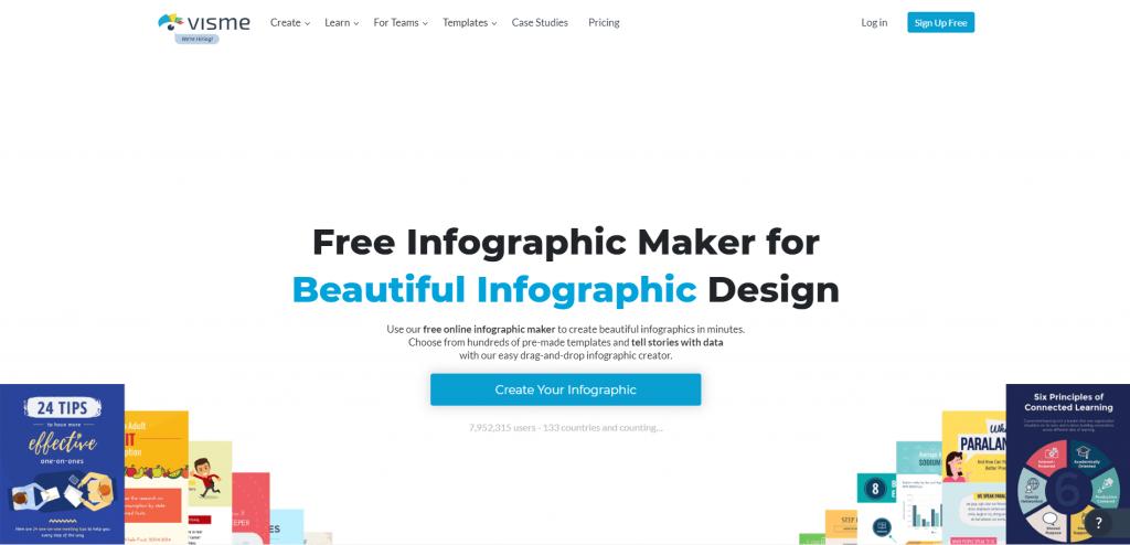 Visme's free infographic maker