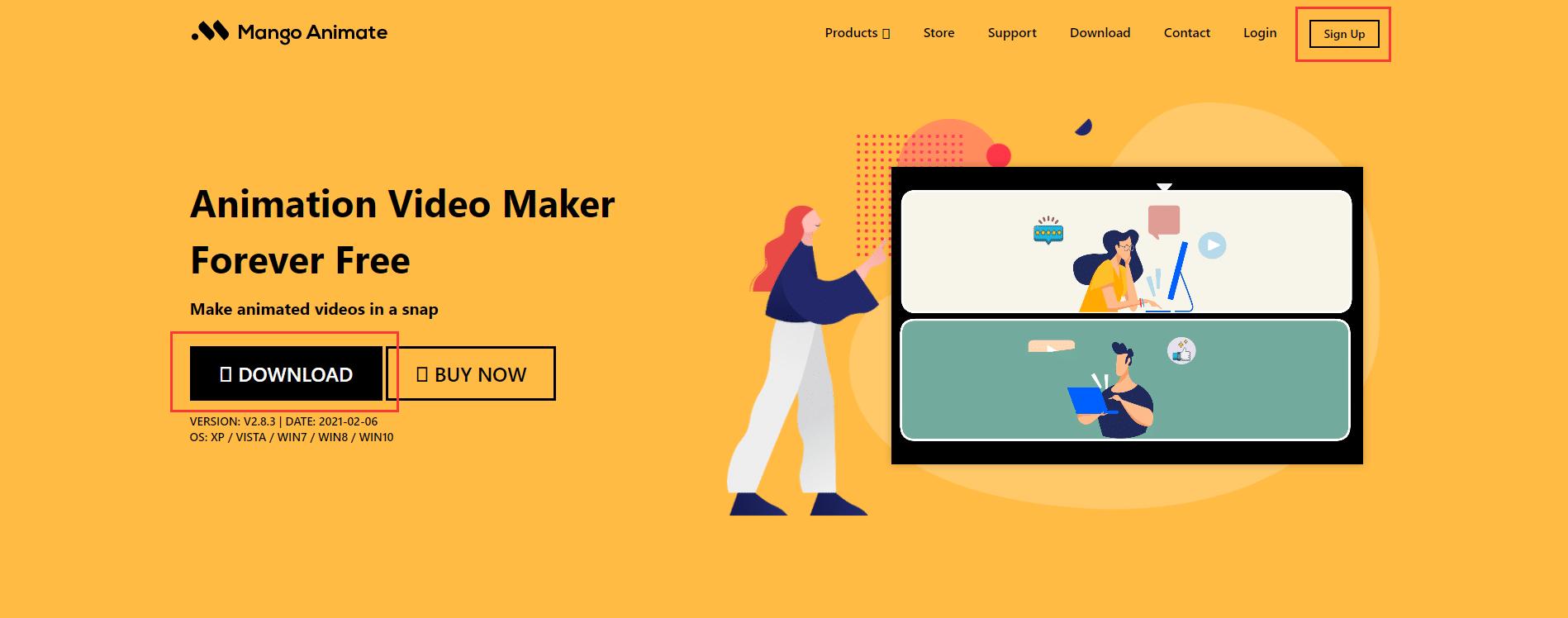 Mango Animation Maker Web Page