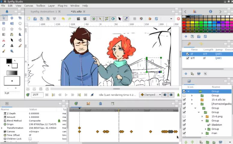 character rigging animation software TOP 9 Synfig Studio