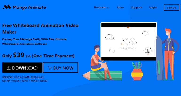 Free Hand Drawn Animation Software - Mango Animate Whiteboard Animation Maker