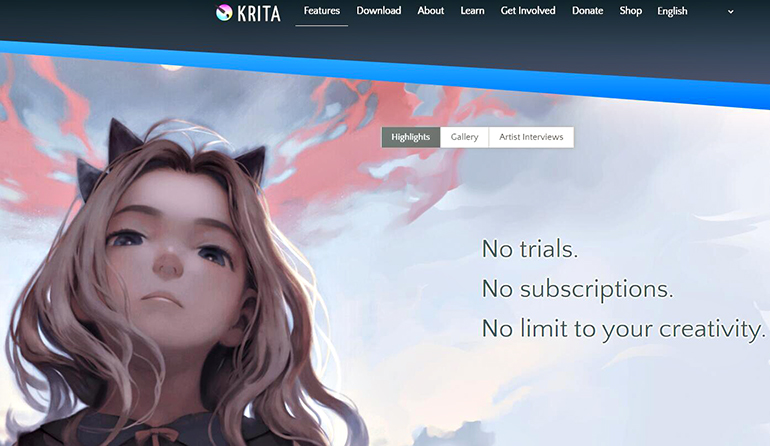 Krita: a open-source painting software tool