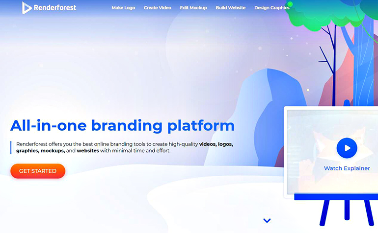 Renderforest: all-in-one branding platform