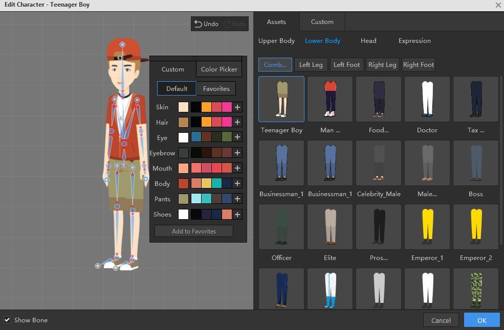 mango animate interface IK and FK rigging