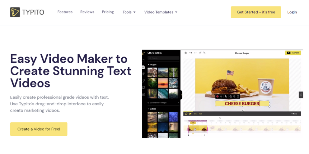 typito online text animation maker