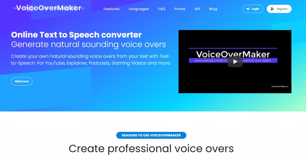 voiceovermaker text to speech video maker