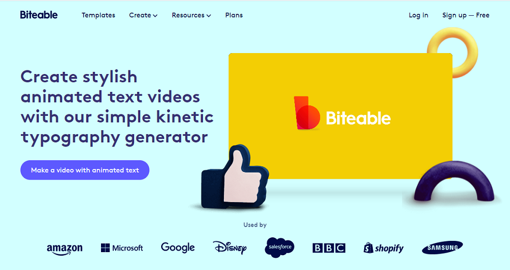Biteable animated text generator online makes fabulous kinetic typography videos